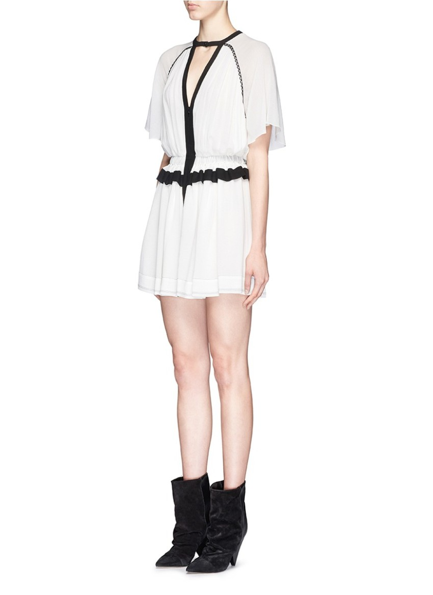 Isabel Marant White Reta Cotton Crepe Dress