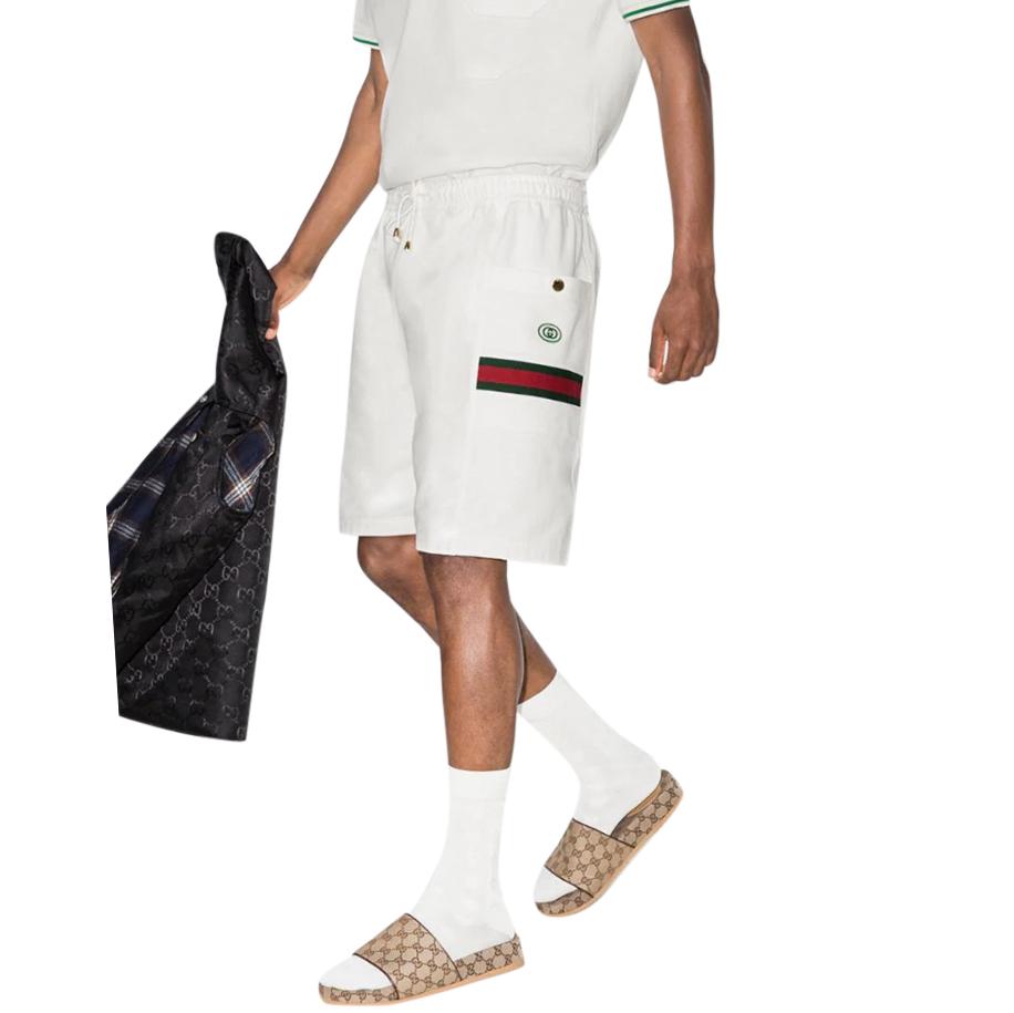 Gucci Web Stripe Cotton Track Shorts