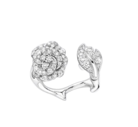 Dior 18kt White Gold & Diamonds Rose Dior Bagatelle Ring