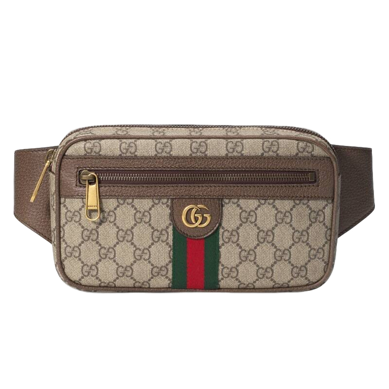 Gucci Ophidia GG Monogram Leather Belt Bag
