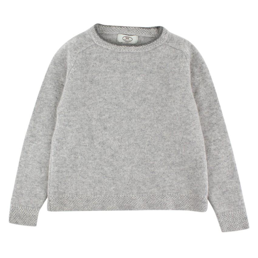 Papouelli Light Grey Pure Cashmere Jumper