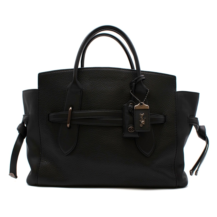 Coach Black Leather Handbag with Graphite Hardware