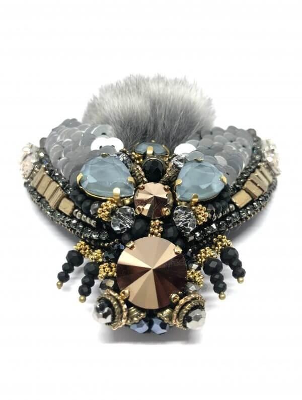 FurbySD chinchilla FLY brooch 7.5cms x 7.5cms