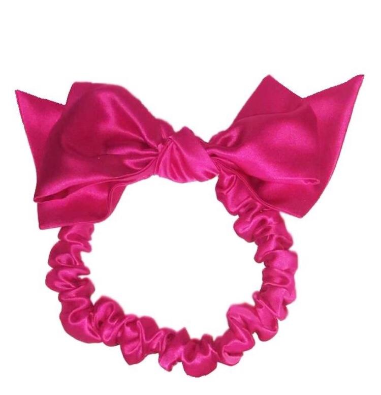 Maguy De Chadirac Pink Silk Bow Turban