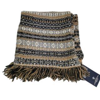 Johnstons of Elgin Fair Isle Cashmere & Wool Blend XL Scarf