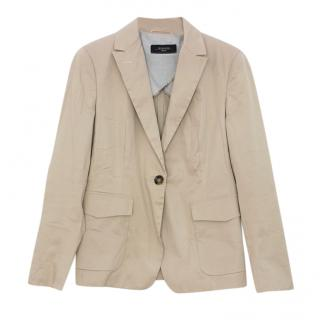 Weekend Max Mara Beige Lightweight Tailored Jacket