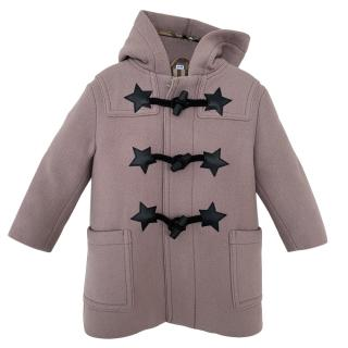 Burberry Pink Kids Duffle Wool Coat