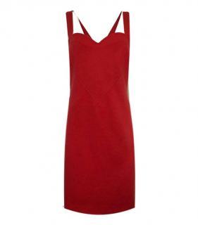Yves Saint Laurent Red Vintage Wool Love Heart Dress