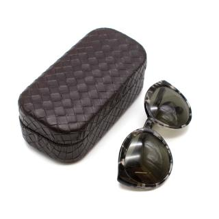 Bottega Veneta Tortoiseshell Grey Sunglasses