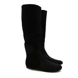 Giuseppe Zanotti Black Suede Long Boots