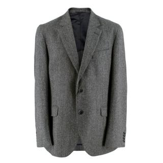 Hackett Dark Grey Performance Wool Flannel Blazer