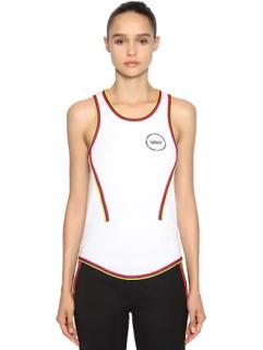 Calvin Klein 205W39NYC Ribbed cotton top w/ logo patch