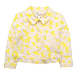 Bonpoint Lime Heart Motif Kids Jacket