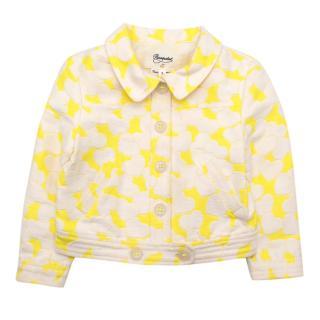 Bonpoint Yellow Heart Motif Kids Jacket
