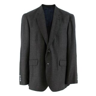 Hackett Wool Herringbone Grey Knitted Blazer