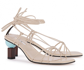 Yuul Yie Trophy 65 taupe leather sandals