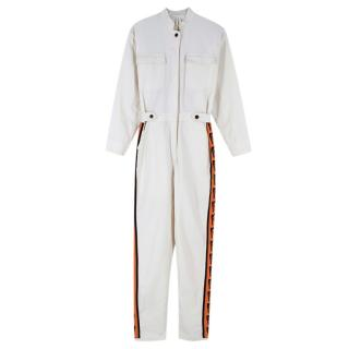 Lisou X Spry Off-White Cotton Boilersuit
