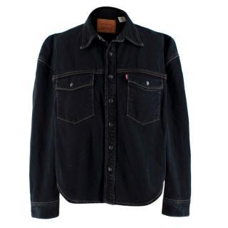 Levi's Washed Black Denim Contrast Stitch Western Shirt