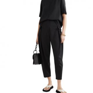 Stella McCartney Black High Rise Tapered Pants