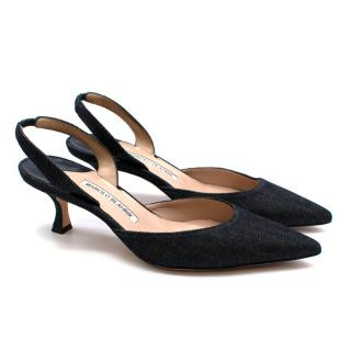Manolo Blahnik Denim Maysale Pumps 50
