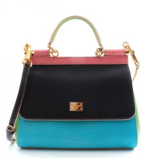 Dolce & Gabbana Colour Blocked Leather Miss Sicily Bag