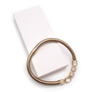 Furla Gold Metallic Embellished Necklace
