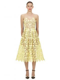Self Portrait Yellow Azaelea Dress
