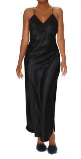 Maguy De Chadirac Black Silk Bias Cut Slip Dress
