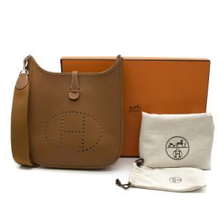 Hermes Gold Evelyne Shoulder Bag[p] 2012