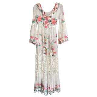 Diamond for Eden Embroidered Lace Detailed Kaftan