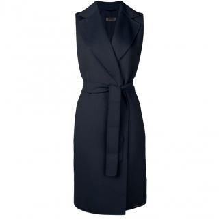 Max Mara Black Wool Belted Coat