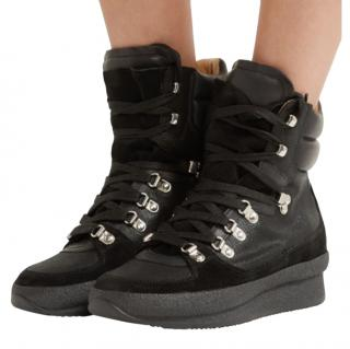 Isabel Marant Black Brendty Wedge High Tops