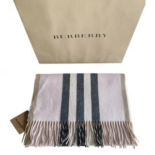 Burberry Reversible Icon Stripe Cashmere Shawl