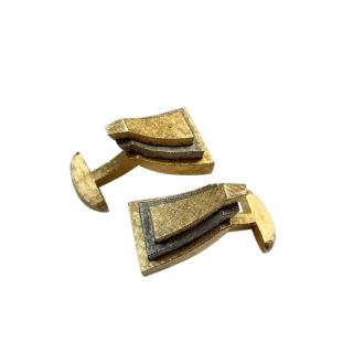 Givenchy Vintage Gold Tone Cufflinks