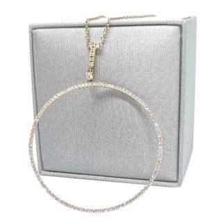 William & Son DIamond Set 18ct Gold Hoop Pendant Necklace