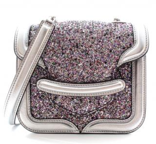 Alexander McQueen Mini Heroine Glitter Crossbody Bag