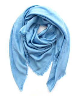 Louis Vuitton Pale Blue Monogram Shine Shawl
