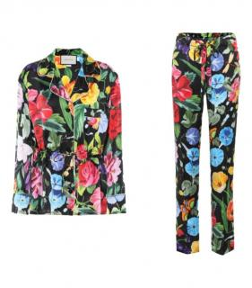 Gucci Multicoloured Silk Floral Blouse & Pants