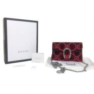 Gucci Super Mini Red Velvet Supreme Dionysus