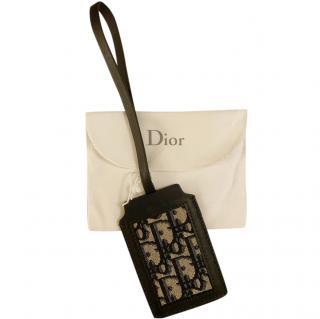 Christian Dior Blue Oblique Luggage Tag