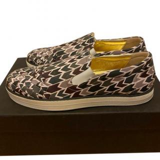 Bottega Veneta Printed Intrecciato slip-on Sneakers