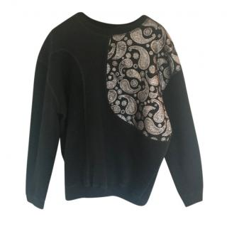 Stella McCartney Black Paisley Embroidered Jumper