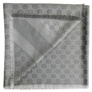 Gucci Wool & Silk Monogram Scarf