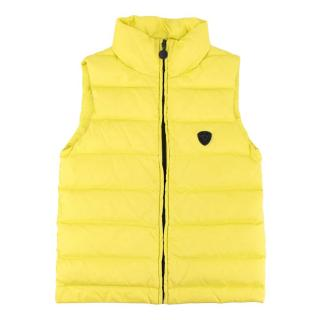 Bonpoint Neon Yellow Quilted Zipped Puffer Vest