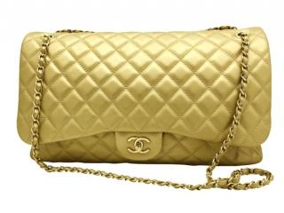 Chanel Metallic Gold XXL Travel Flap