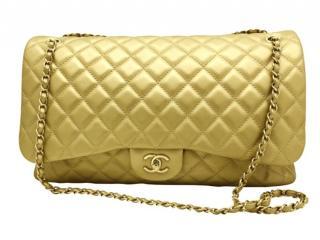 Chanel Metallic Gold XXL Travel Flap