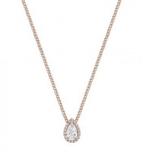 William & Son Natural Pink Diamond Pear Cut Pendant Necklace