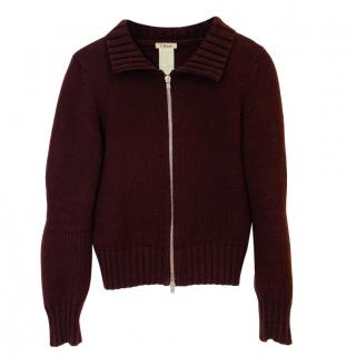 Chloe Brown Vintage Wool Cardigan