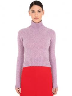 Victoria Beckham Lilac Knit Wool Top