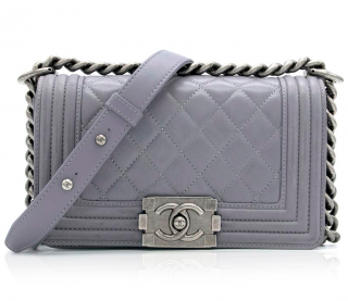 Chanel Lilac Grey Small Boy Bag